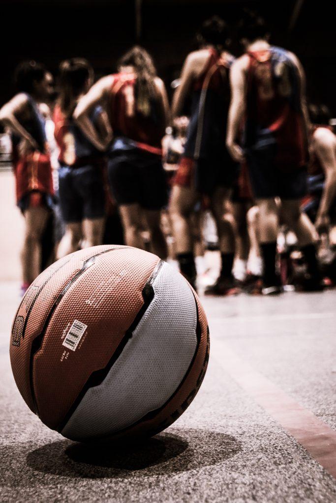 brown and gray basketball